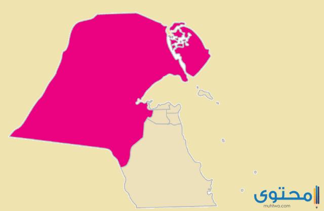 خريطة الكويت بالمدن