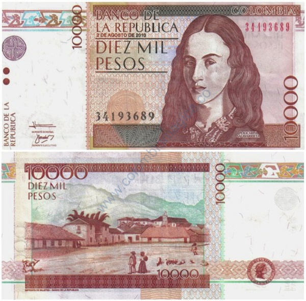 10000 بيزو كولومبي