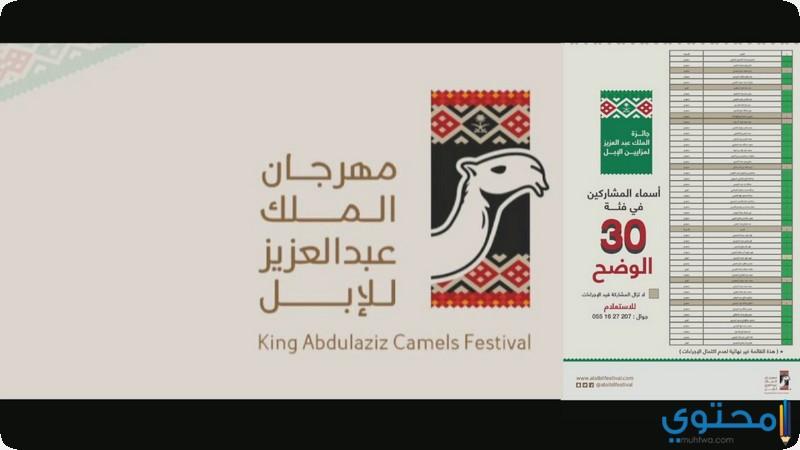 مهرجان جائزة الملك عبدالعزيز لمزاين الابل