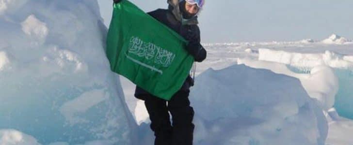 مريم فردوس أول امرأة تغوص في القطب الشمالي