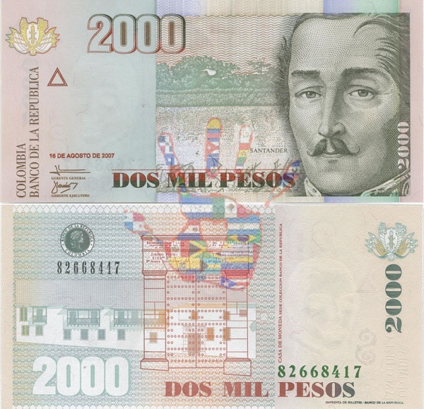 2000 بيزو كولومبي