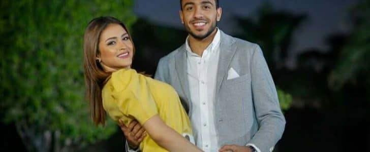 صور اللاعب محمود كهربا وخطيبته شدوى الحضرى