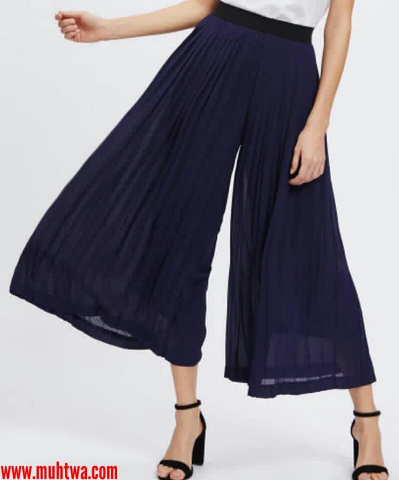 01e413516 أزياء بناطيل واسعة 2019 - موقع محتوى