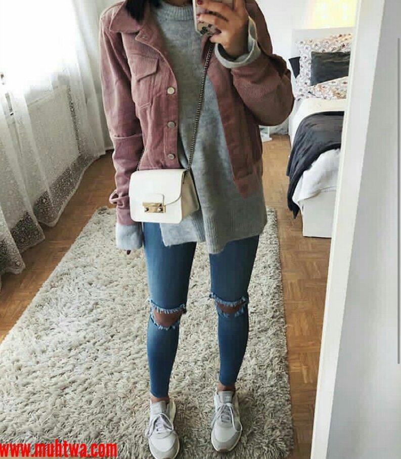 02b56b20e55f6 ملابس شتاء 2019 للبنات اجمل ملابس شتوية حريمي - موقع محتوى