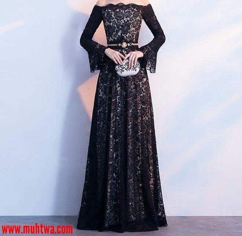 c809cbc36 فستان مصنوع بأكمله من الدانتيل الأسود. فساتين. فساتين