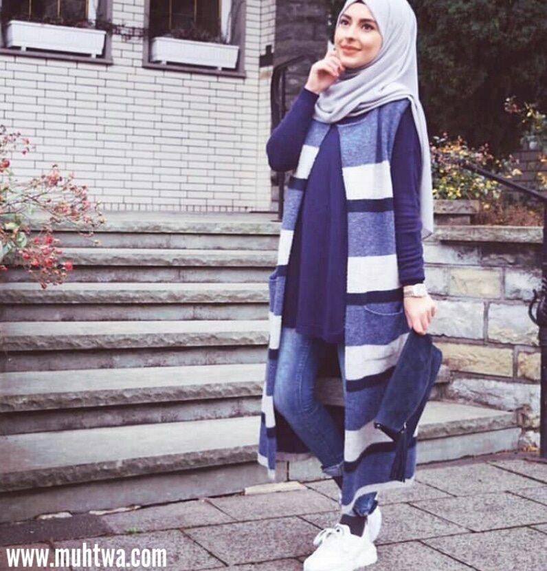 e03dd0026 أزياء محجبات 2019 اجمل ازياء محجبات شتوية - موقع محتوى