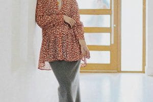 اجمل ملابس الحوامل للمحجبات