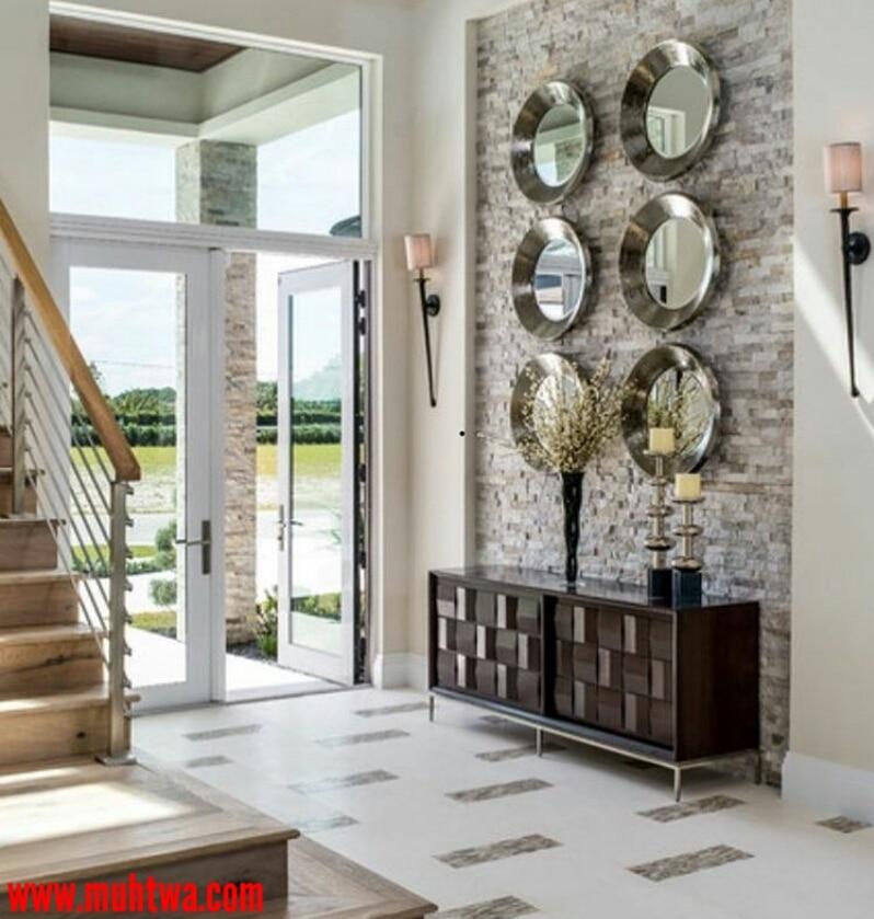 Front Entryway Decorating Ideas The Design Twins: أحدث ديكورات حوائط حديثة 2019