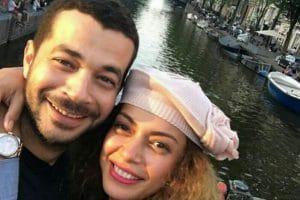 صور الفنان شريف سلامة وزوجته داليا مصطفى