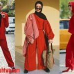 ملابس المحجبات باللون الاحمر من وحى الفاشنيستا