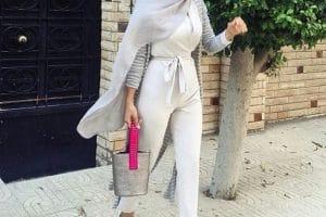 اجمل ملابس محجبات للجامعة 2019