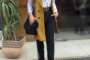 اجمل طرق تنسيق الحزام لملابس المحجبات