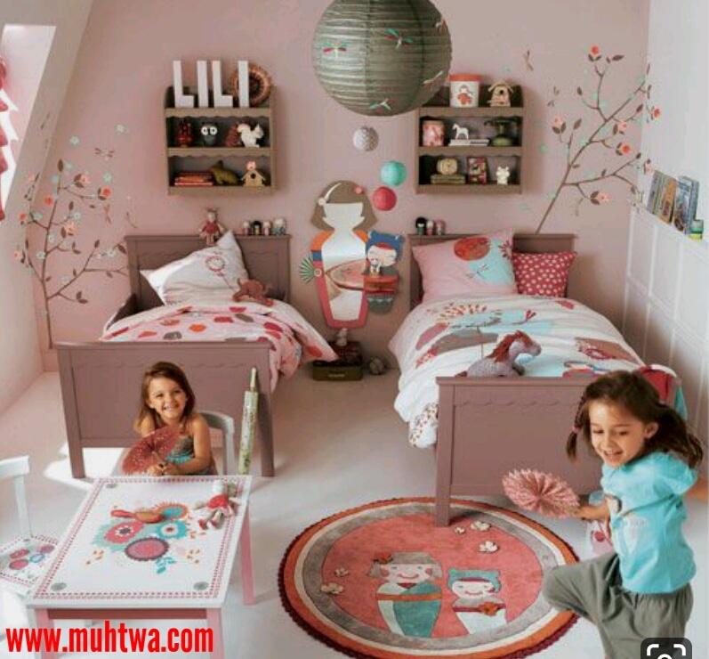 احدث غرف اطفال بسريرين