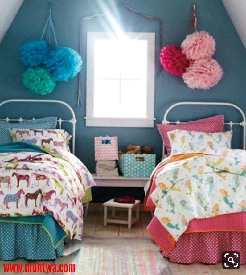 أجمل ديكورات وصور غرف نوم اطفال بسريرين - موقع محتوى