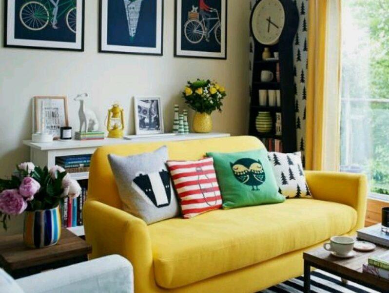افكار ديكورات بسيطة لغرفة المعيشة