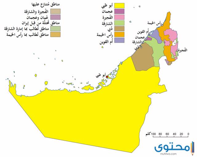 خريطة الإمارات