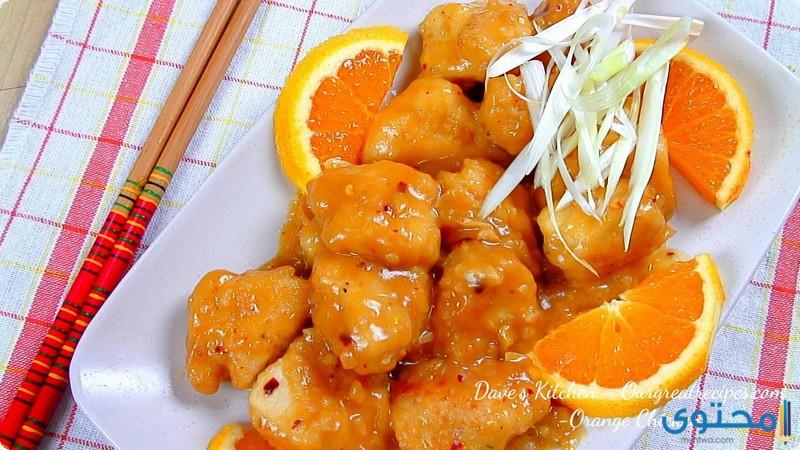 الدجاج بالبرتقال