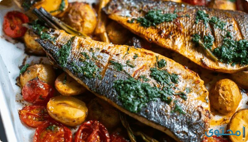 صينية السمك في الفرن