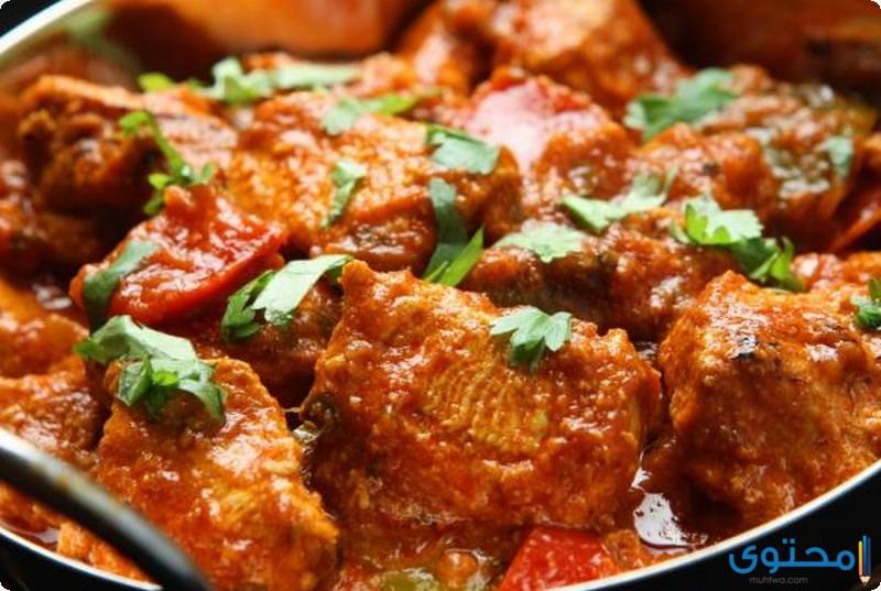 الدجاج على الطريقة الهندية
