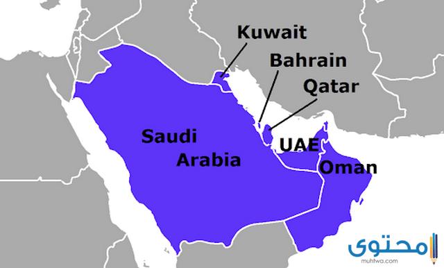 خريطة دول الخليج