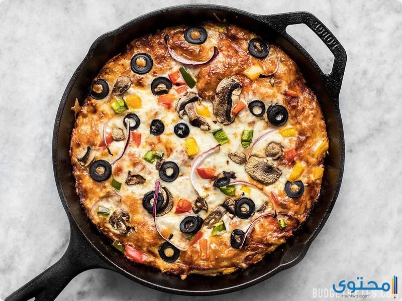 أسهل طريقة لعمل البيتزا في المنزل