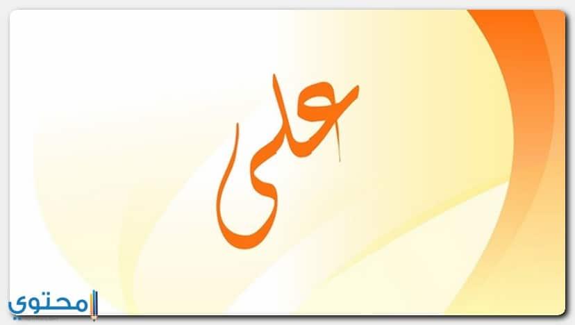 معنى اسم علي Ali مفصلاً