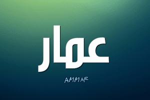 معنى اسم عمار Ammar بالتفصيل