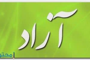 معنى اسم آزاد Azad بالتفصيل