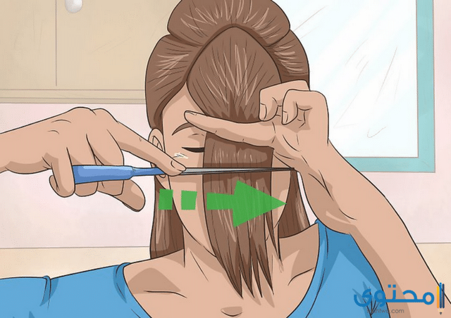 طريقة قص الشعر
