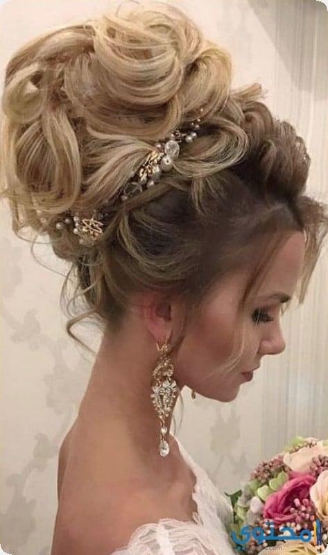 2103aba9e أحدث تسريحات الشعر للعرائس 1439 - موقع محتوى