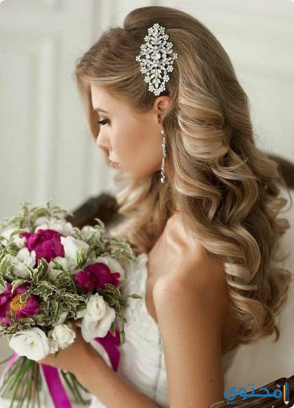 تسريحات شعر لعروس