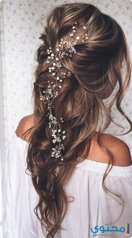 تسريحات شعر للعروس