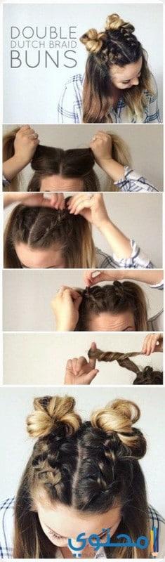 خطوات تسريحة شعر جديدة