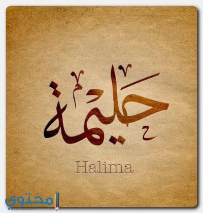 معنى اسم حليمة وصفات حاملة الاسم Halima موقع محتوى