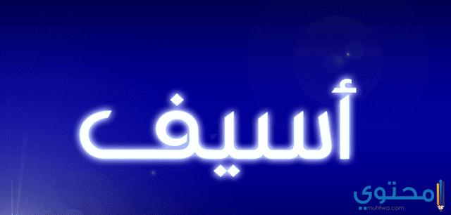 معنى اسم أسيف