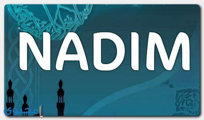 اسم نديم