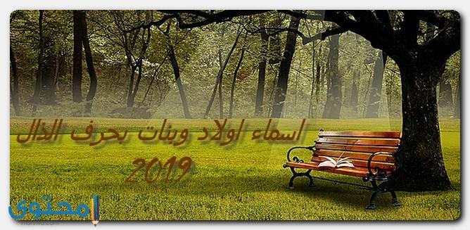 اسماء اولاد وبنات 2019 بحرف الذال جديدة