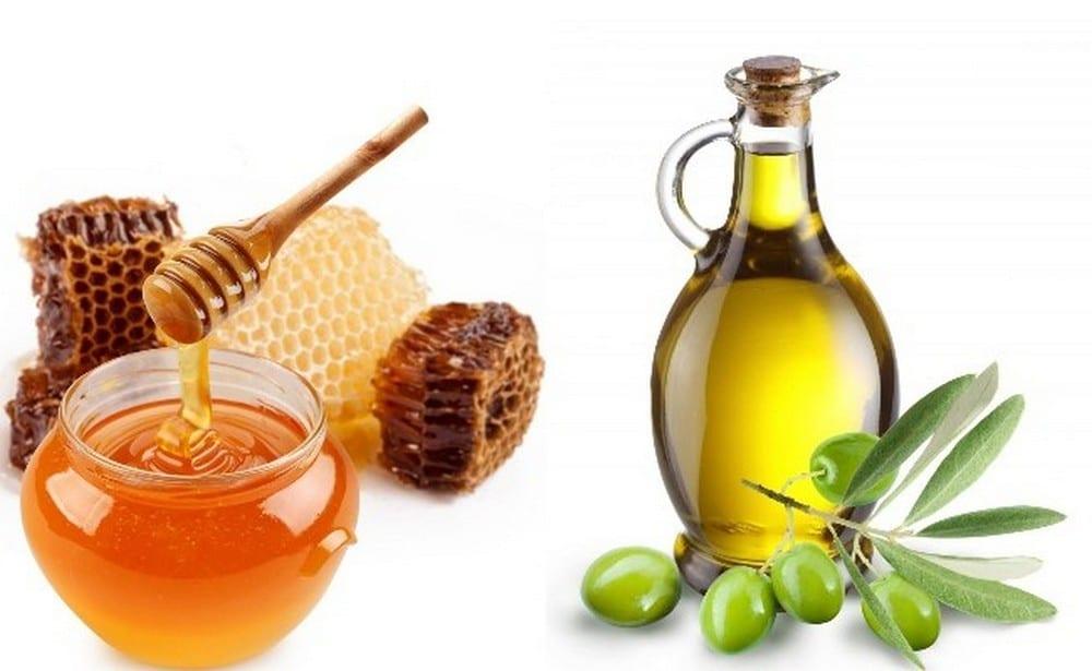 مزيج زيت الزيتون مع العسل
