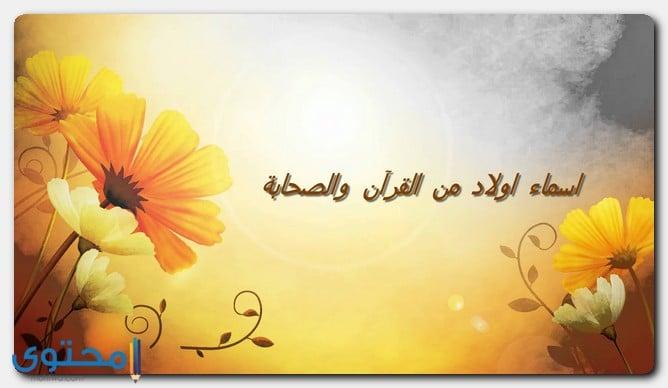 اسماء اولاد من القرآن