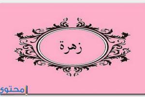 معنى اسم زهرة Zahra بالتفصيل