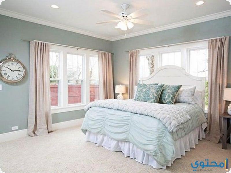 غرفة باللون المينت