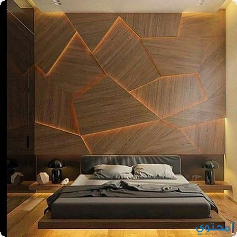 ورق حائط بلون الخشب