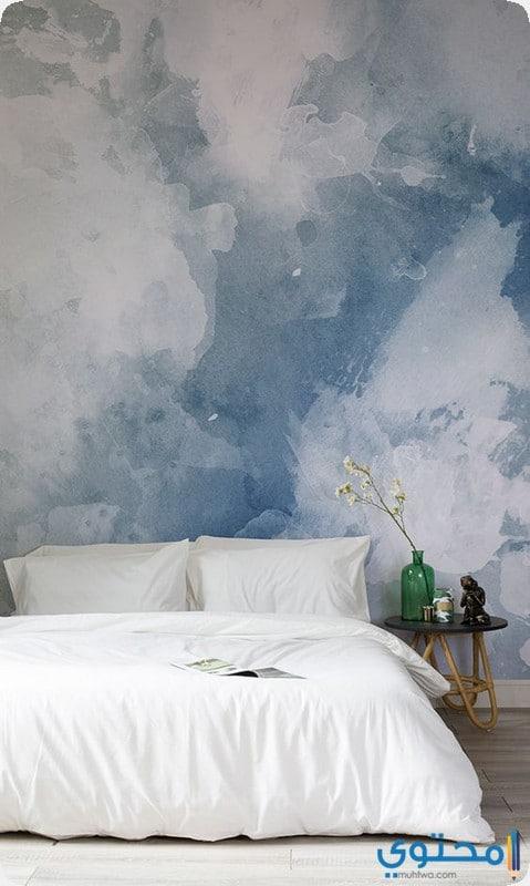 غرفة نوم بألوان هادئة