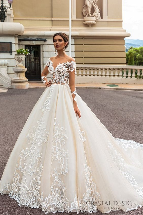e108fcde71b65 أحدث فساتين زفاف فخمة 2019 - موقع محتوى