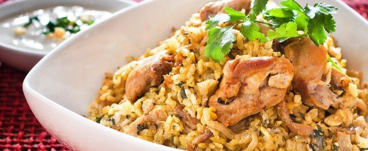 طريقة تحضير دجاج بالأرز والخضار بالفرن
