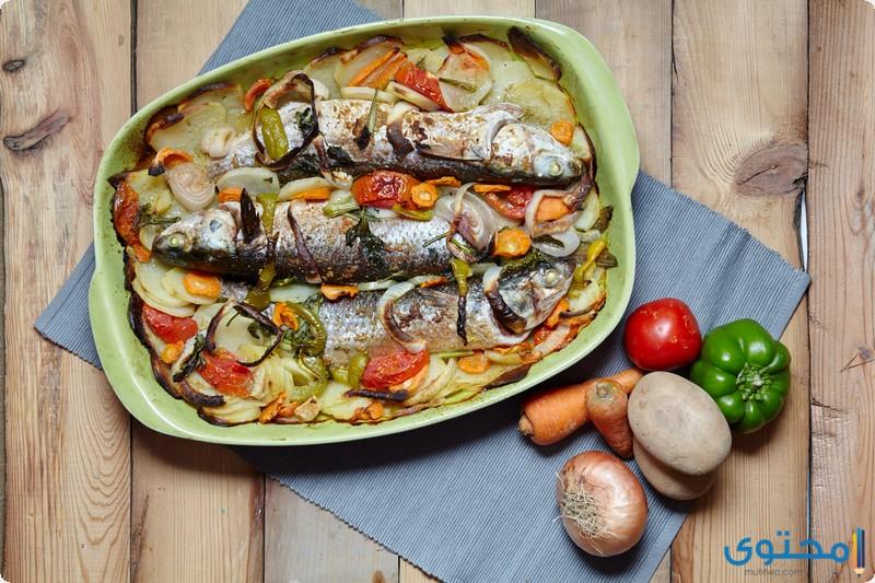 إعداد صينية السمك