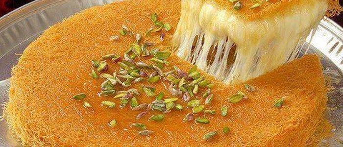 طريقة تحضير الكنافة بالقشطة والمكسرات