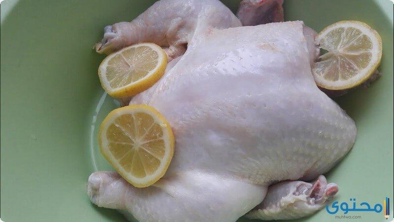 تنظيف الدجاج
