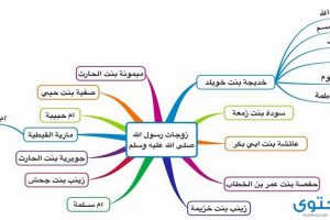 عدد زوجات النبي واسمائهن بالترتيب