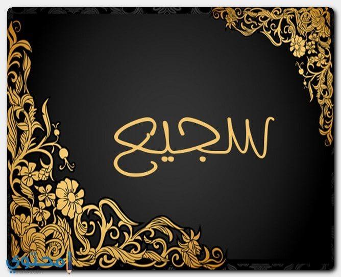 حكم الاسلام في تسمية سجيع